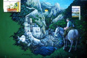 087. Murales (e sculture) del Paese Dipinto - Furore